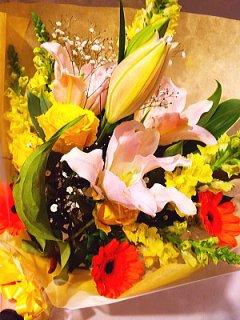 商品ID 0655 花束 明るい系