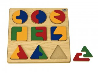 TAG 複雑な分割関係を習ぶパズル