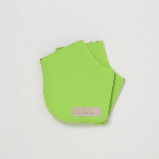 アップルグリーン/ステッチ2色 かかとソックス