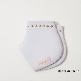 SWAROVSKI★スタッズ付き/ホワイト/スタッズ2色 かかとソックス
