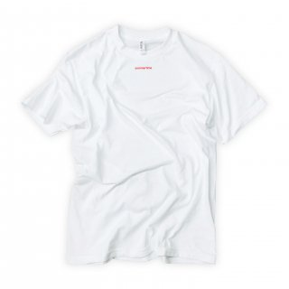 White summertime T-Shirt with Red Text