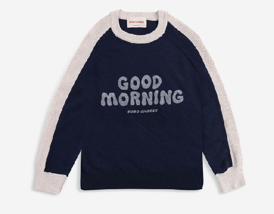 【BOBO CHOSES】Good Morning knitted jumper 2021AW
