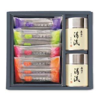 【贈答用】清流100g帯缶2本+風雅巻(12本)