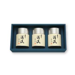 【贈答用】安倍の清流100g帯缶(化粧箱入3本)