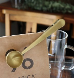BONOBONO クリップ付きコーヒーメジャースプーン ゴールドブラス