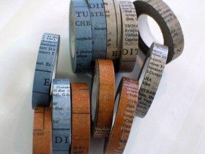 倉敷意匠 オールドブックマスキングテープ10mm 1巻 スリムテープパッケージ無