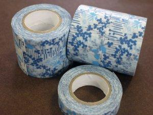 倉敷意匠 マスキングテープ15mm リトルガーデン ブルー 1巻パッケージ無