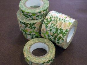 倉敷意匠 マスキングテープ15mm リトルガーデン グリーン 1巻パッケージ無