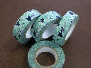 倉敷意匠 マスキングテープ15mm メッセージバード ブルー 1巻パッケージ無