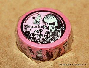 ムーミン マスキングテープ 野原の2人 お手伝いのミーサムとムーミンママ(ピンク)