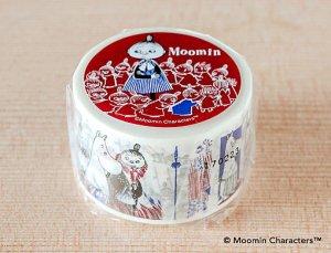 ムーミン マスキングテープ コミックシリーズ(リトルミイ)エンジxブルー 30mm