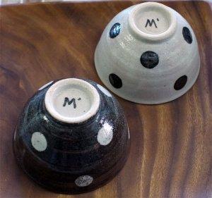 スタジオエム 水玉茶碗(大)  ご飯茶碗
