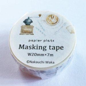 なかうちわか  マスキングテープ COFFEE