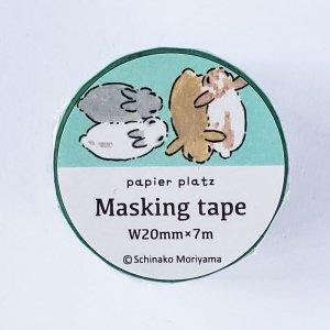 もりやましなこ  マスキングテープ おやすみうさぎ 森山しなこ/Schinako