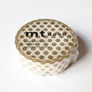 mtマスキングテープ1P   ドット・金 ゴールド