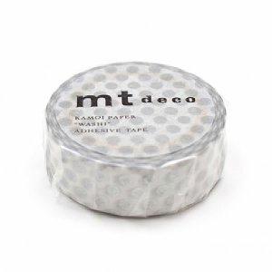 mtマスキングテープ1P   ドット・銀 シルバー
