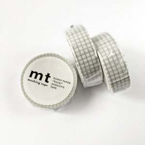 mtマスキングテープ1P   方眼・銀シルバー