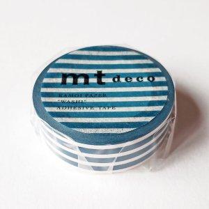 mtマスキングテープ1P   ボーダー・インディゴ ネイビー