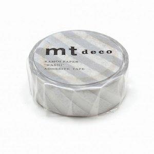 mtマスキングテープ1P   斜めストライプ・シルバー銀