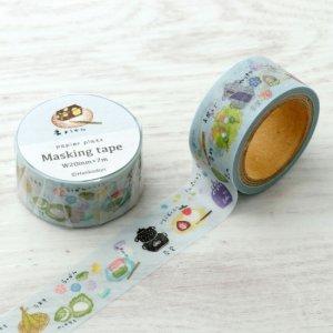 はんこどり マスキングテープ 和菓子と茶道具