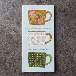 浅野みどり  一筆箋メモ帳 my favorite mugs 縦