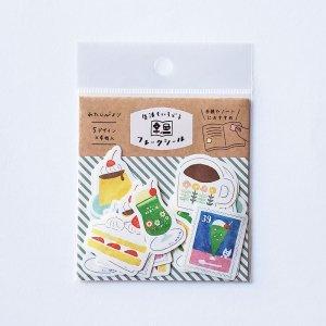 古川紙工 わたしびより 和紙フレークシール  レトロ喫茶