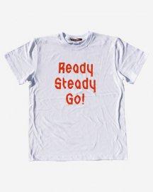 Ready Steady Go! Standard Logo T-shirt White/Orange
