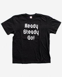 Ready Steady Go! Standard Logo T-shirt Black/White