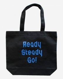 Ready Steady Go! Standard Logo Canvas tote bag Black/Blue