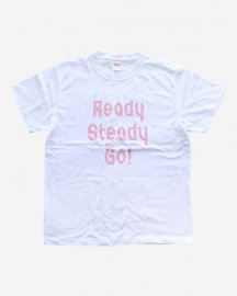 Ready Steady Go! Standard Logo T-shirt White/Pink