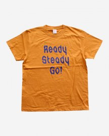 Ready Steady Go! Standard Logo T-shirt Camel/Blue