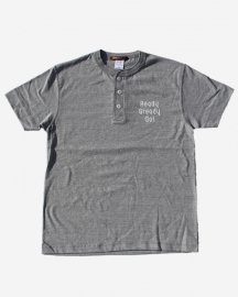 Ready Steady Go! Standard Logo Henry Neck T-shirt Mix gray/White