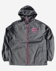 Ready Steady Go! Standard Nylon Hooded Jacket  Cement/Tropical pink