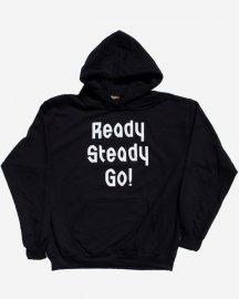 Ready Steady Go! Standard Logo Parker  Black/ White