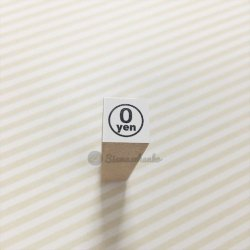 ミニスタンプ【0yen白丸】