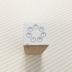 WEEKチェック 円型丸