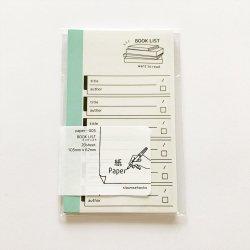 paper-005 M5サイズペーパー BOOK LIST(20枚)