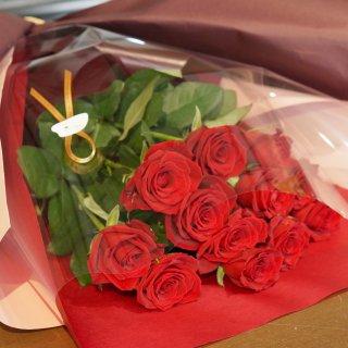 【佐賀市内限定】プロポーズ花束(赤バラ12輪)ダズンローズ