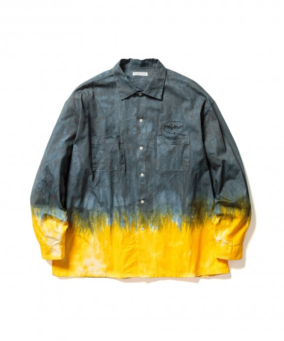 <img class='new_mark_img1' src='https://img.shop-pro.jp/img/new/icons35.gif' style='border:none;display:inline;margin:0px;padding:0px;width:auto;' />TIE DYE L/S POCKET SHIRTS (GREEN×YELLOW)