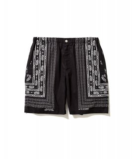 BANDANA SHORTS (BLACK)