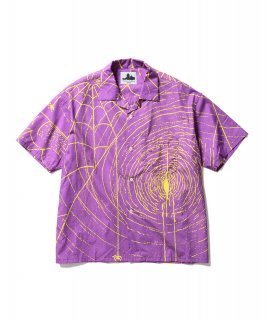 SPIDER S/S SHIRTS (PURPLE × YELLOW)
