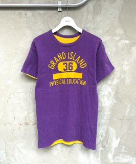 <img class='new_mark_img1' src='https://img.shop-pro.jp/img/new/icons15.gif' style='border:none;display:inline;margin:0px;padding:0px;width:auto;' />REVERSIBLE TEE (PURPLE/YELLOW)