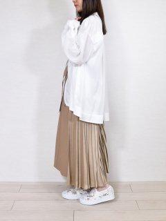 PASSIONE (パシオーネ) サイドプリーツ 切替 スカート