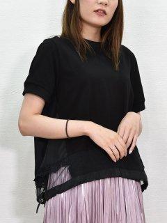 MICALLE MICALLE (ミカーレミカーレ) 裾レース 切替プルオーバー