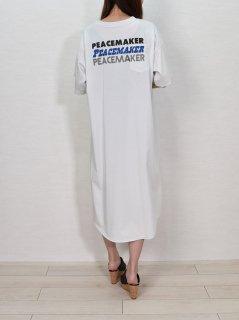 FOSI. (フォーシ) バック ロゴプリント Tシャツ ワンピース