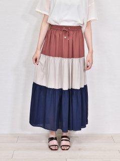 C.C.CROSS (シーシークロス) カラーブロック スカート
