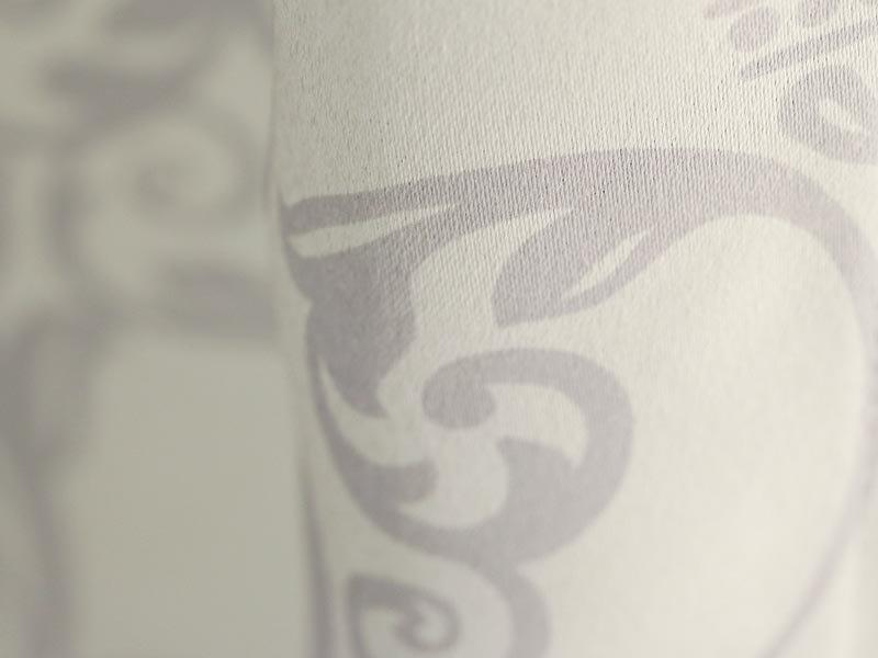 100サイズから選べる!お洒落な北欧デザインのオーナメント柄カーテン 『グラナド アイボリー』■完売