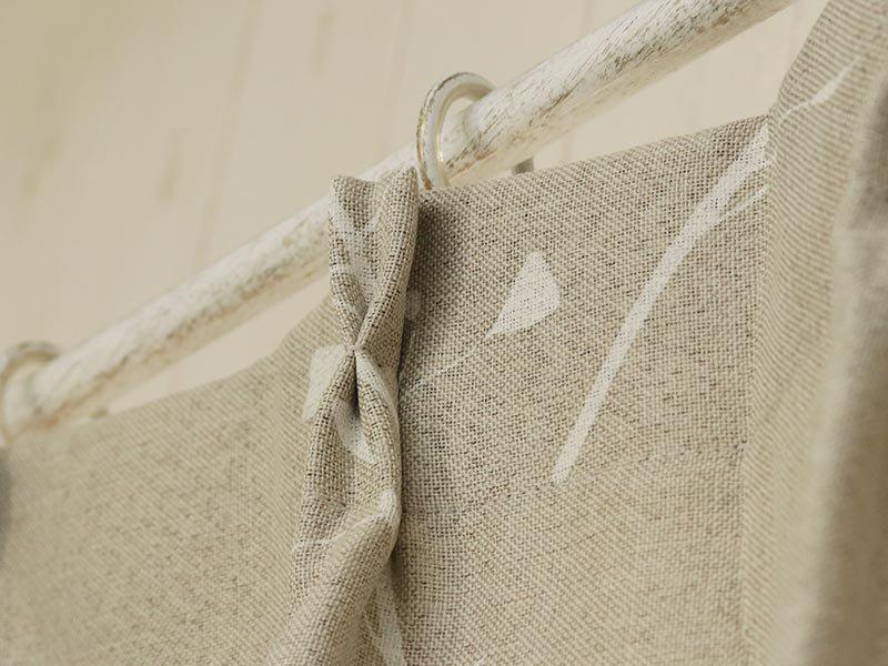 100サイズから選べる!グレーベースの優しい柄に癒される北欧デザインカーテン 『チャピ』