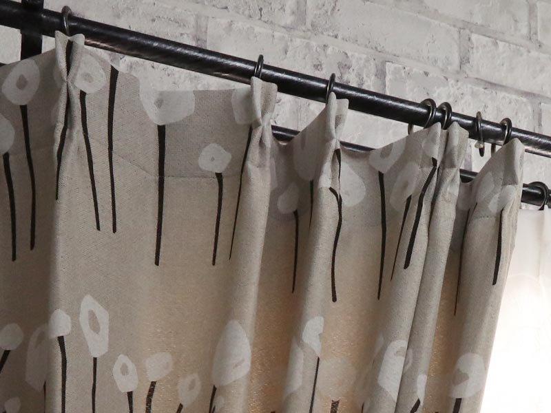 100サイズから選べる!自然をモチーフにした柄の北欧デザインカーテン 『ツナグ』
