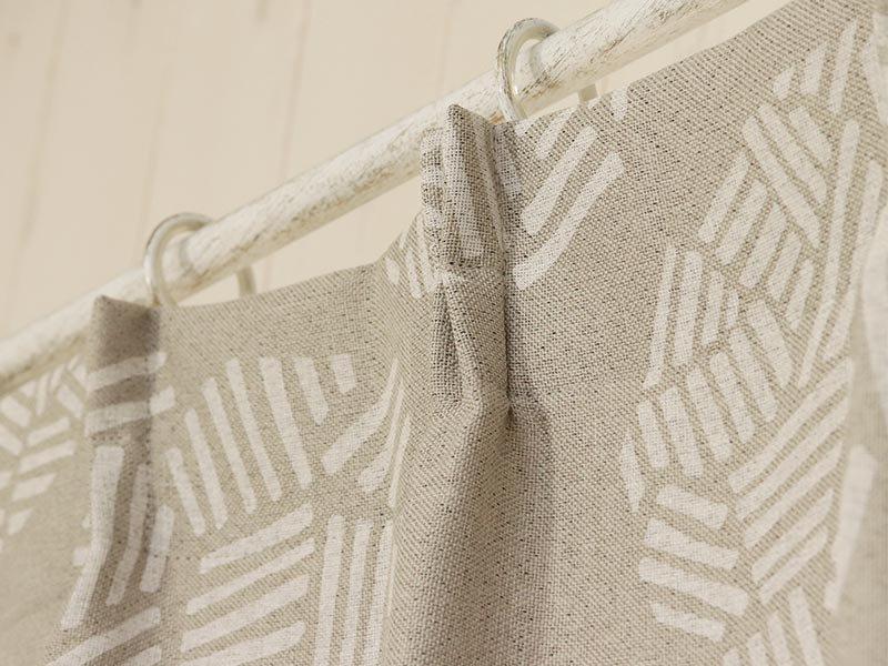 100サイズから選べる!優しいグレーベース柄の北欧デザインカーテン 『レンザ』